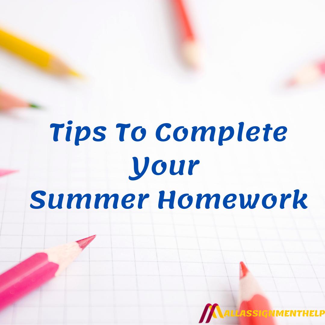 Summer Homework