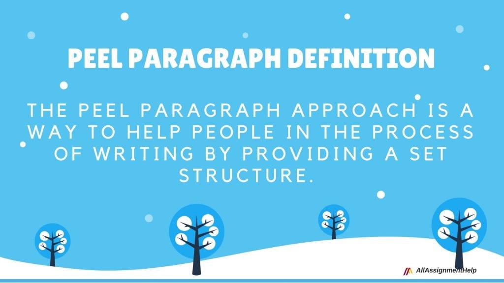 peel paragraph definition